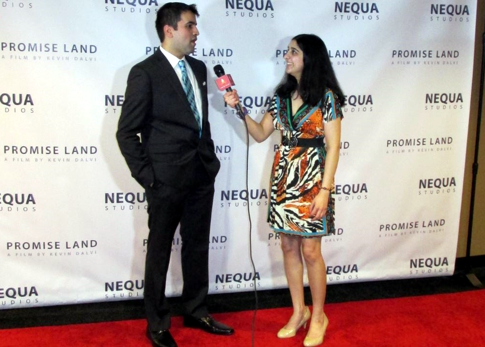 Promise Land 3 - Roopa interviewing director Kevin Dalvi, Photo Credit: Poonam Modha