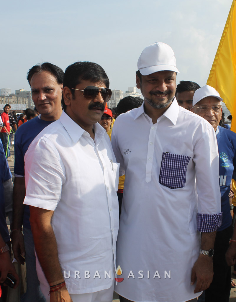 130921_161732Minister of state for housing Sachin Ahir With Dr. Huzaifa khorakiwala At Peace Walk