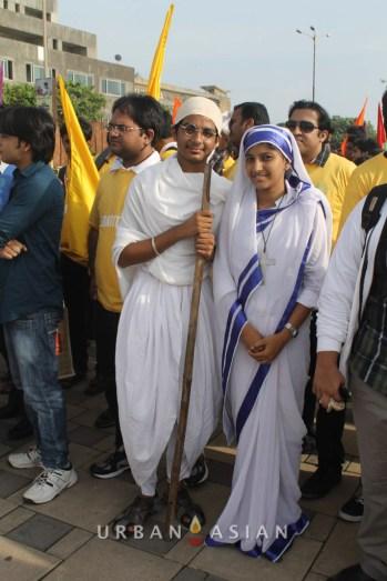 130921_164802Student As Mahatma Gandhi And Mother Teresa At Peace Walk