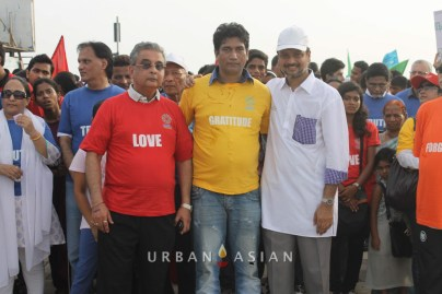 130921_171716Rubeen Malikani Satish Reddy With Dr. Huzaifa khorakiwala At Peace Walk