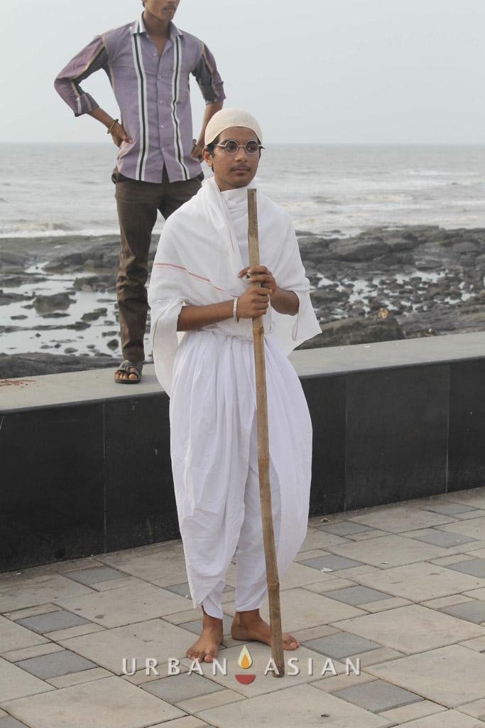 130921_171850Student As Mahatma Gandhi At Peace Walk