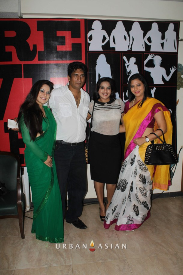 Diya Sharma Satish Reddy Socialist Gurpreet Kaur With Guest At Are We Safe Campaign