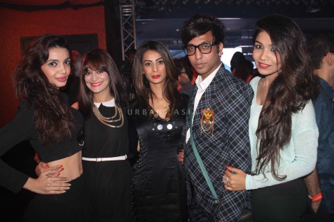 Rehan Shah with model at party