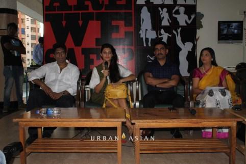 Satish Reddy Jacqueline Fernandez Additional Commissioner Vishwas Nangare Patil With Socialist Gurpreet Kaur At Are We Safe Campaign2