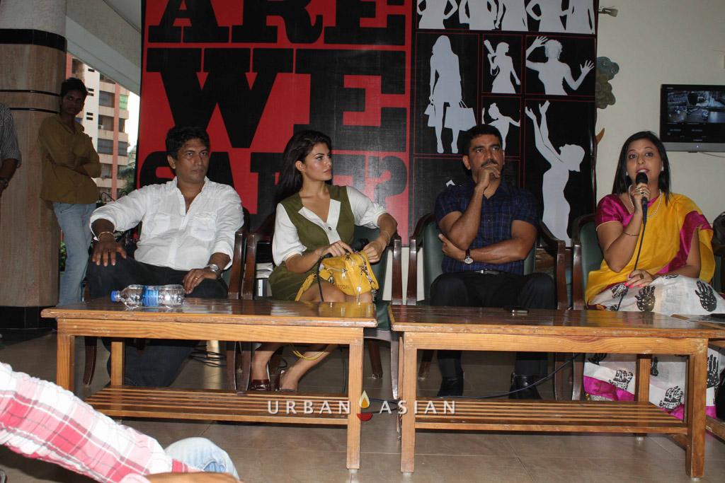 Satish Reddy Jacqueline Fernandez Additional Commissioner Vishwas Nangare Patil With Socialist Gurpreet Kaur At Are We Safe Campaignq