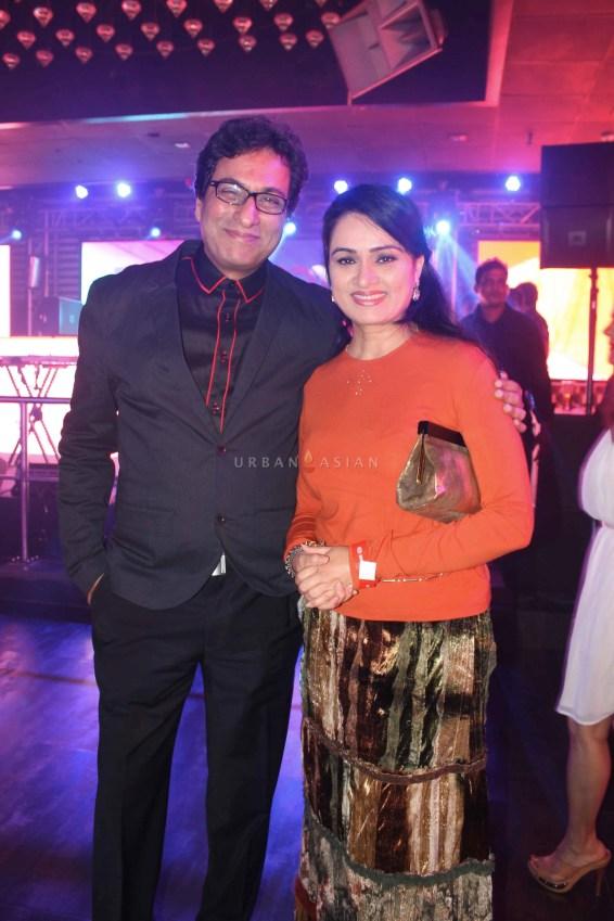 Talat Aziz With Padmini Kolhapuri At Party