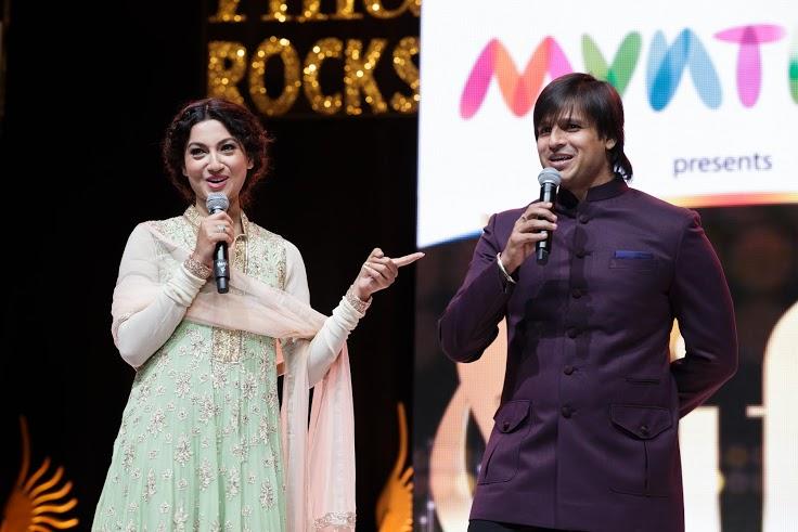 iifa rocks- hosts gauhar khan and vivek oberoi