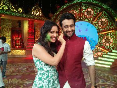 Jaccky Bhagnani and Neha Sharma at sab ki holi