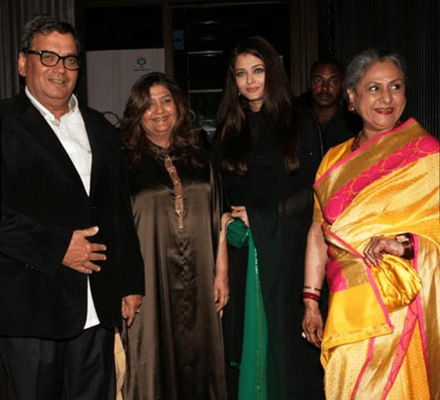 Aishwarya, Jaya bachchan, Subhash and Mukta Ghai