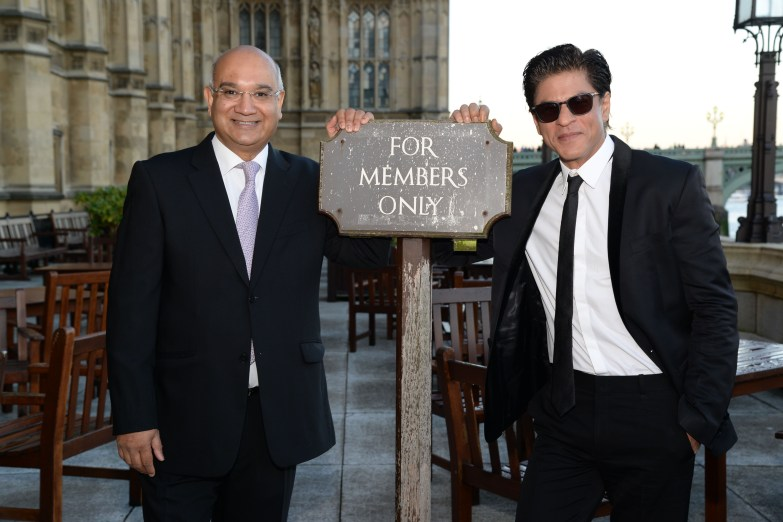 Rt Hon Keith Vaz MP and Shah Rukh Khan at Britain's House of Commons in London DSC_5489