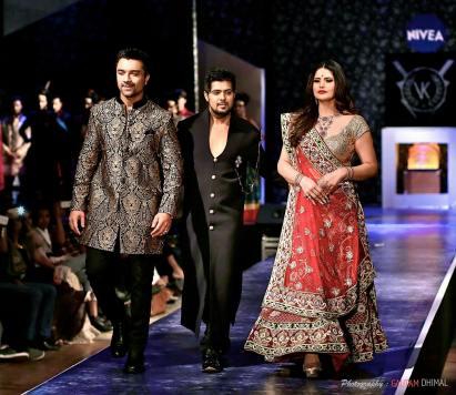 Ajaz Khan With Vishal Kapoor And Zarine Khan At PANACHErunway Fashion Show