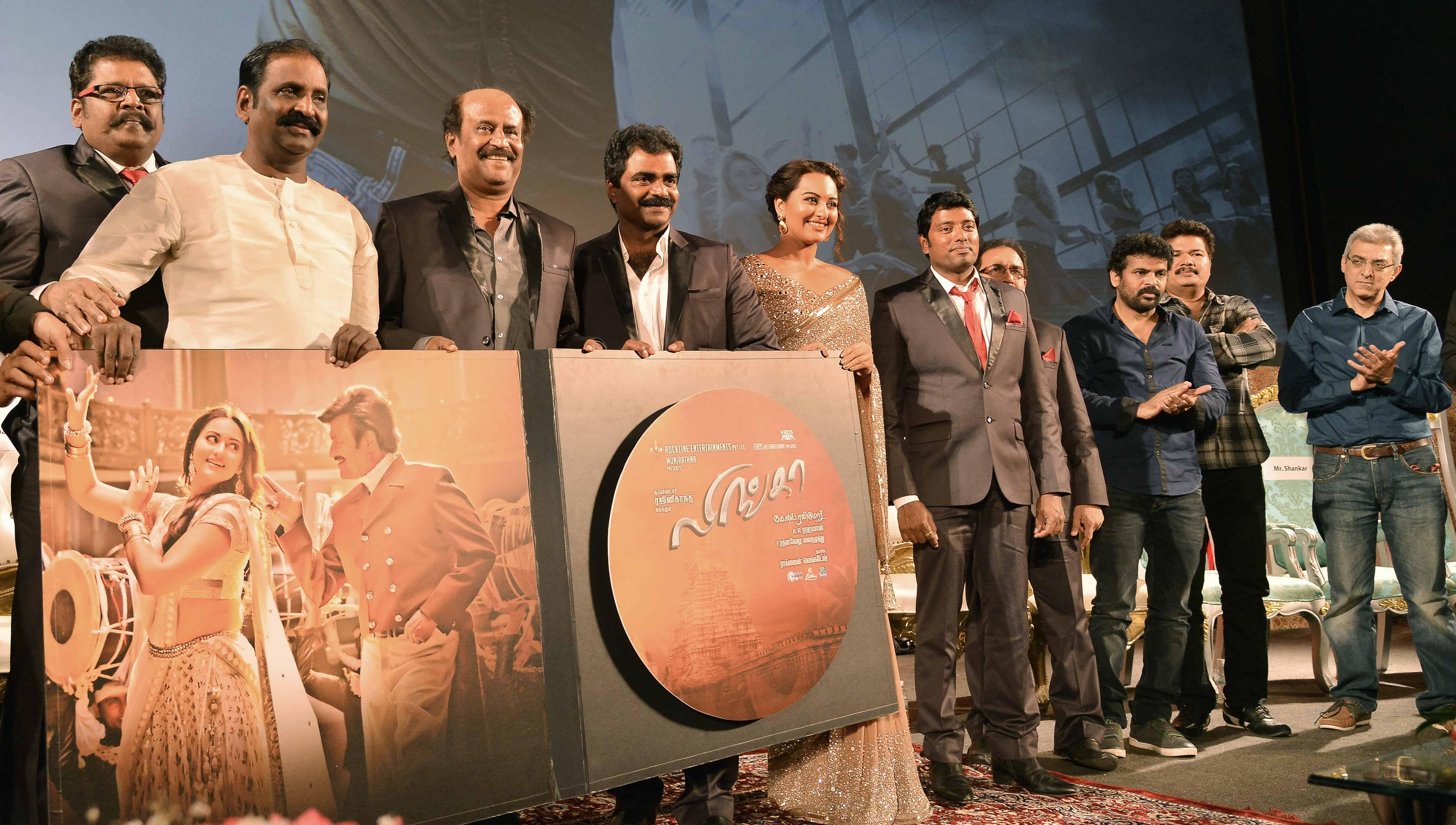 KS Ravikumar-Rajnikanth-Rockline Venkatesh-Sonakshi Sinha-Sabu Cyrille-Dir Shankar- Nandu Ahuja