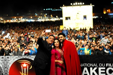 Film Happy New Year team at Jemaa El Fna Square at the 14th Marrakech International Film Festival (3)