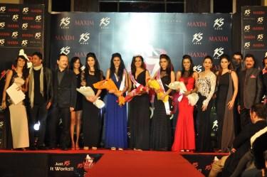 Jury with winners_1 at Kamasutra Miss Maxim 2015 event