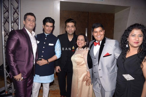 Karan Johar Manish Malhotra at Uday Singh and Shirin recepetion Party