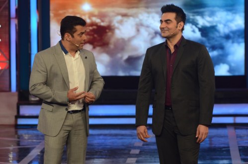 Salman Khan and Arbaaz Khan In Bigg Boss 8 (3)