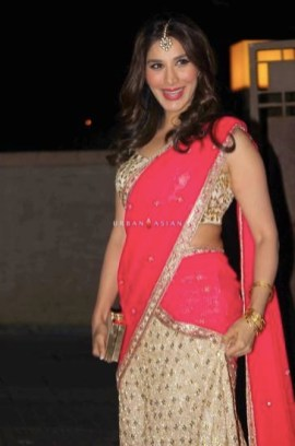 Bollywood actor Sophie Choudry during the wedding reception