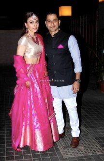 Soha and Kunal during the reception