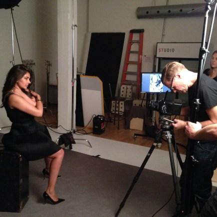 Bryan Adams shoots with Lisa Ray