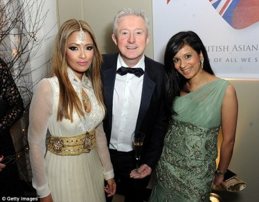 Presenter Sonali Shah who wore a dress by My Trousseau (right), Louis Walsh (centre) and Tasmin Lucia-Khan (left) were among those treated to performances by Ella Henderson and comedian Romesh Raganathan during the evening k