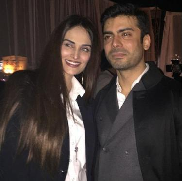 Fawad Khan with supermodel, Mehreen Syed