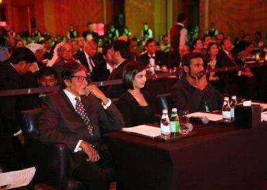 Mr. Amitabh Bachchan, Dhanush and debutante Akshara Haasan ....