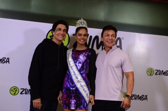 Shiamak Davar, Miss India Noyonita Lodh and Beto Perez