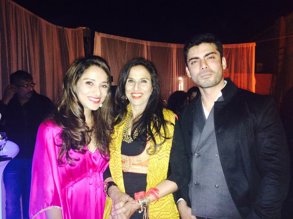 Fawad Khan and Shobhaa De