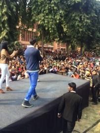 Varun Dhawan, Yami Gautam and Nawazuddin Siddique at Shivaji College Delhi (6)