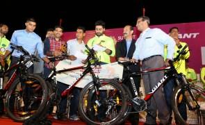 Abhishek Bachchan Turns Cyclist at an Event in Nashik!