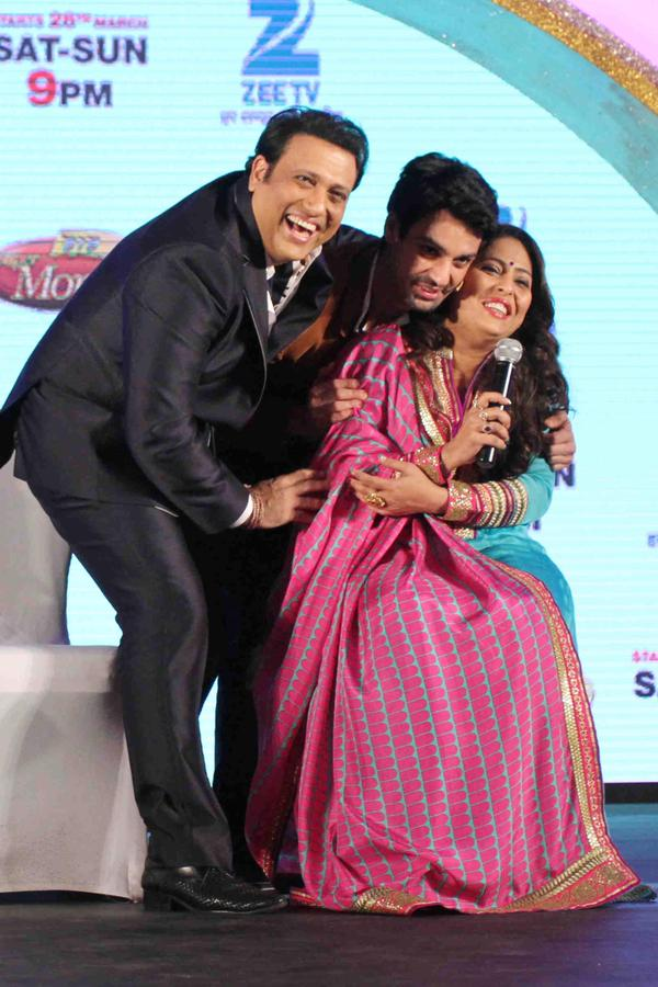 Govinda, Karan Wahi and Geeta Kapoor