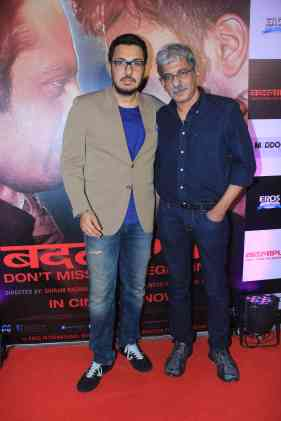 Dinesh Vijan and Sriram Raghawan at the success bash of Badlapur at sofitel bandra (34)