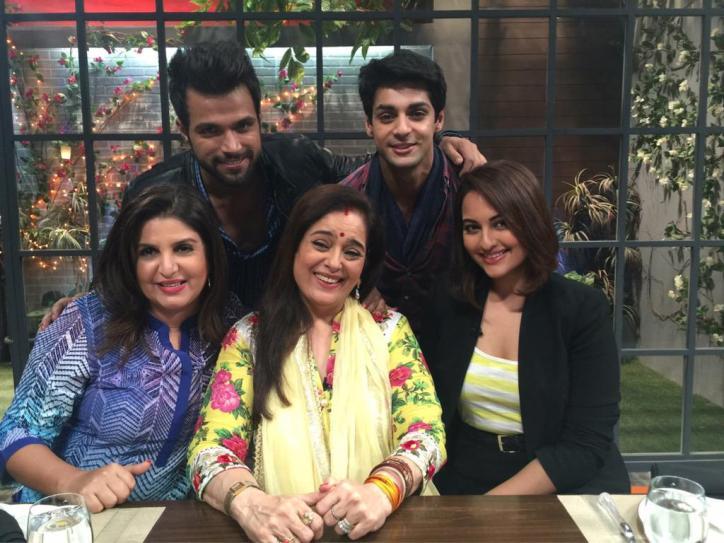 Rithvik Dhanjani, Karan Wahi, Farah Khan, Poonam and Sonakshi Sinha