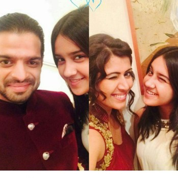 Karan and Ankita with Roshni Walia