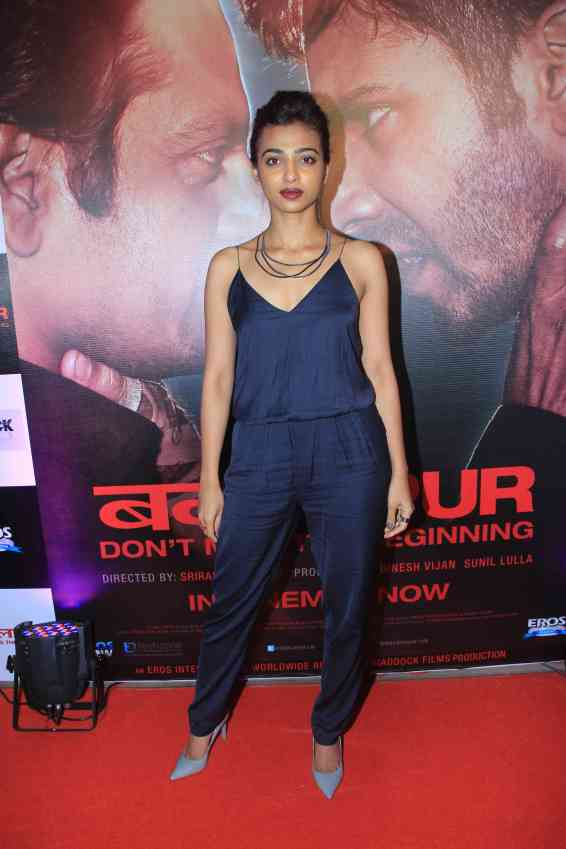 Radhika Apte at the success bash of Badlapur at sofitel bandra (2)