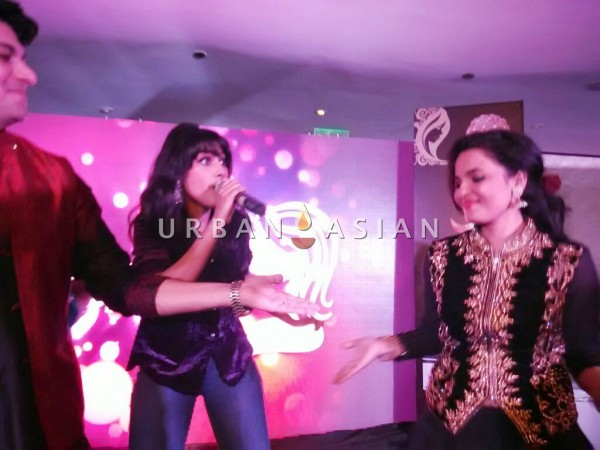 Sagarika Deb during the Bollywood Performance with Actress Chitrashi Sharma