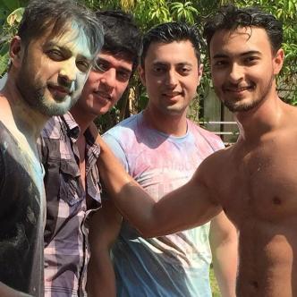 The Khans' Holi party