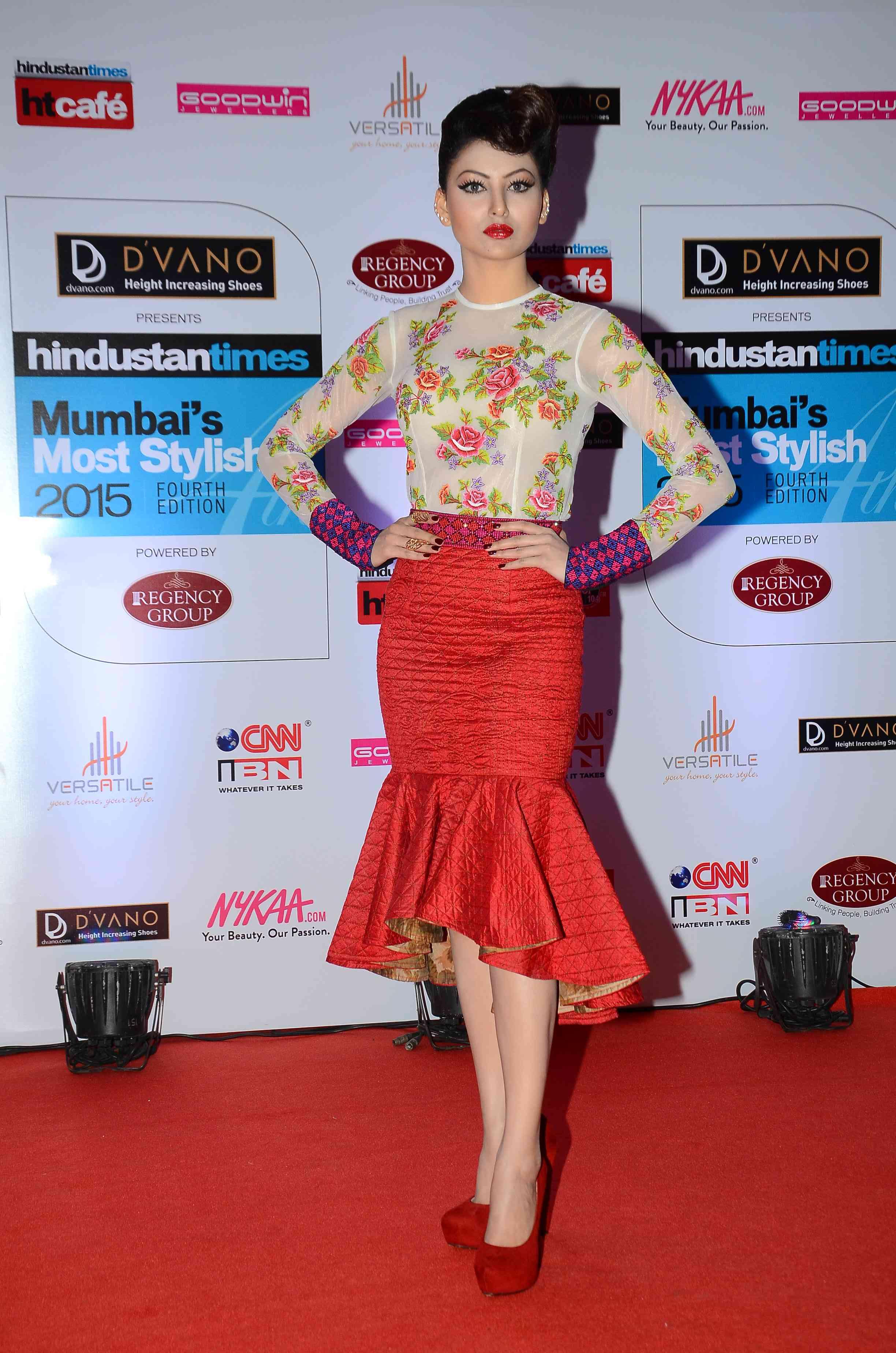 Urvashi Rautela in Neha Agarwal creation at HT Style Awards