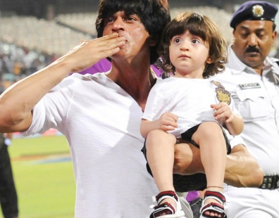 AbRam at a Cricket Match with his daddy.