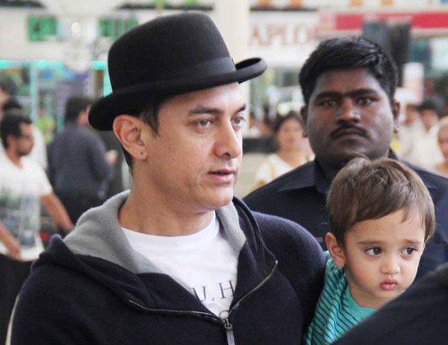 Aamir Khan with Azad