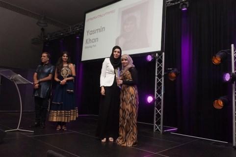 BIWA 2015 Public_ Voluntary Sector Award winner, Yasmin Khan, Staying Put, presented by Penny Appeal