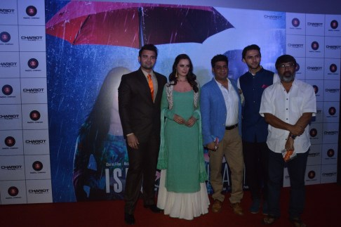 Cast with producer and director