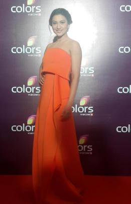 Gauhar Khan at Colors TV