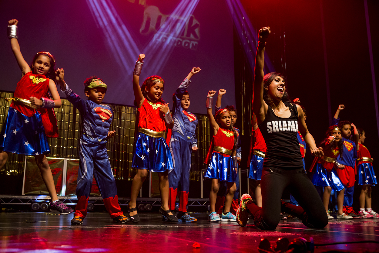 The Stars of tomorrow! Instructor Shruti Shah gets the toddlers from age four to six dancing on stage!