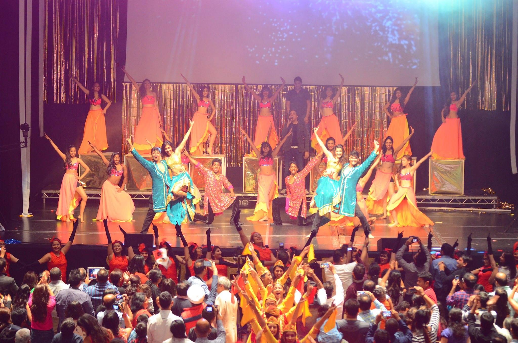 Shiamak's Special Potential Batch performing Shiamak's Bollywood Jazz.