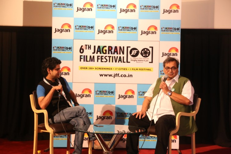 Mayank Skekhar & Subhash Ghai at the 6th Jagran Film Festival