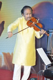 Dr. L Subramaniam performing at the music launch of Gour Hari Dastaan ~ the freedom file
