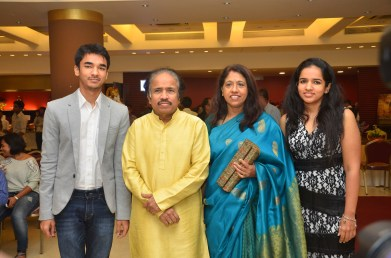 The Legendary musician L Subramaniam and his family seen at the music launch of Gour Hari Dastaan ~ the freedom file