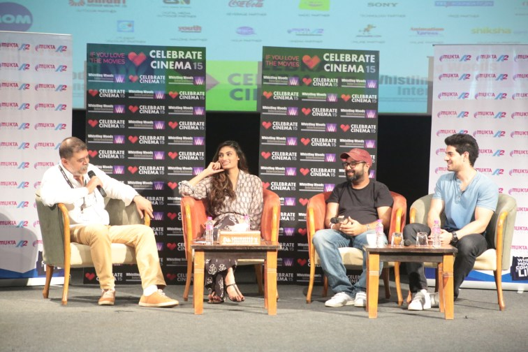 Athiya Shetty, Nikhil Advani,Sooraj Pancholi at Masterclass of Hero @Whistling Woods_1