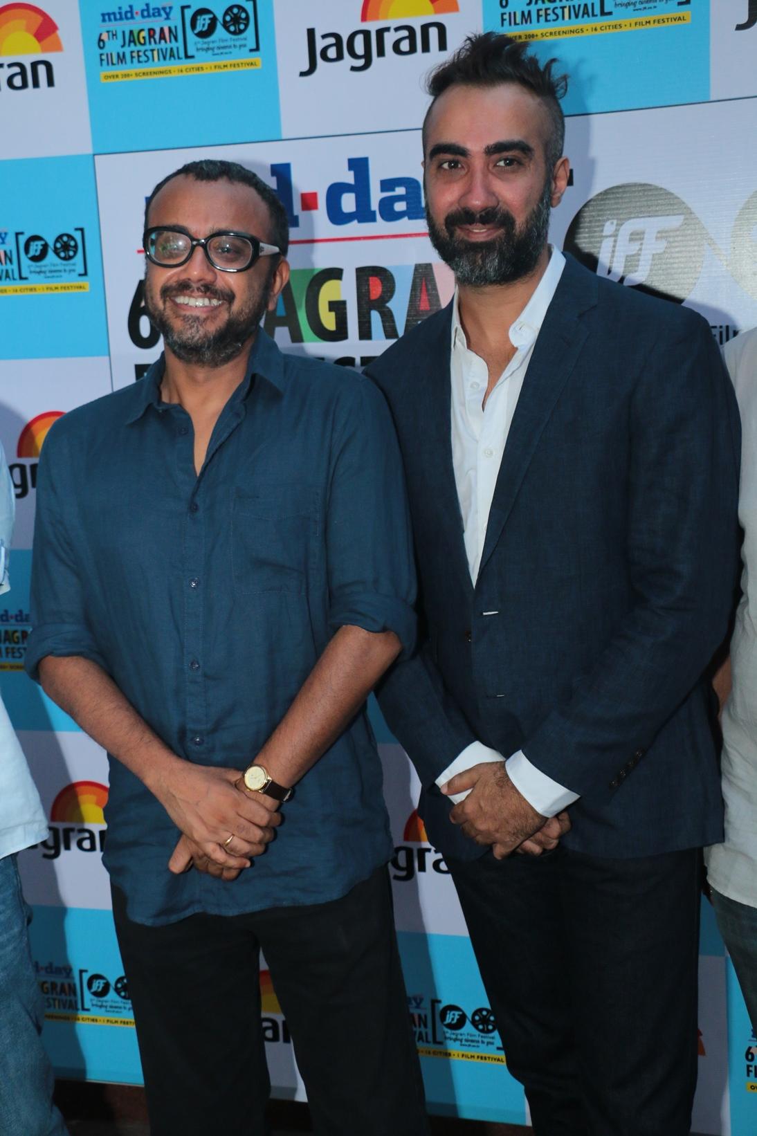 Dibakar Banerjee and Ranveer Shorey at the Opening Ceremony of the 6th Jagran Film Festival 2015